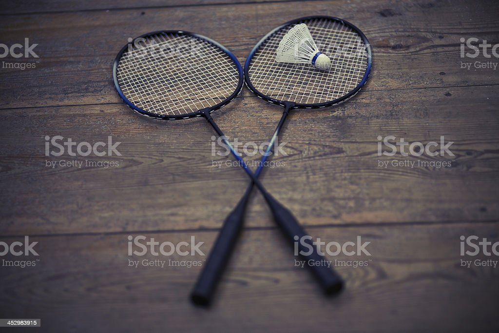 vintage badminton racquet royalty-free stock photo
