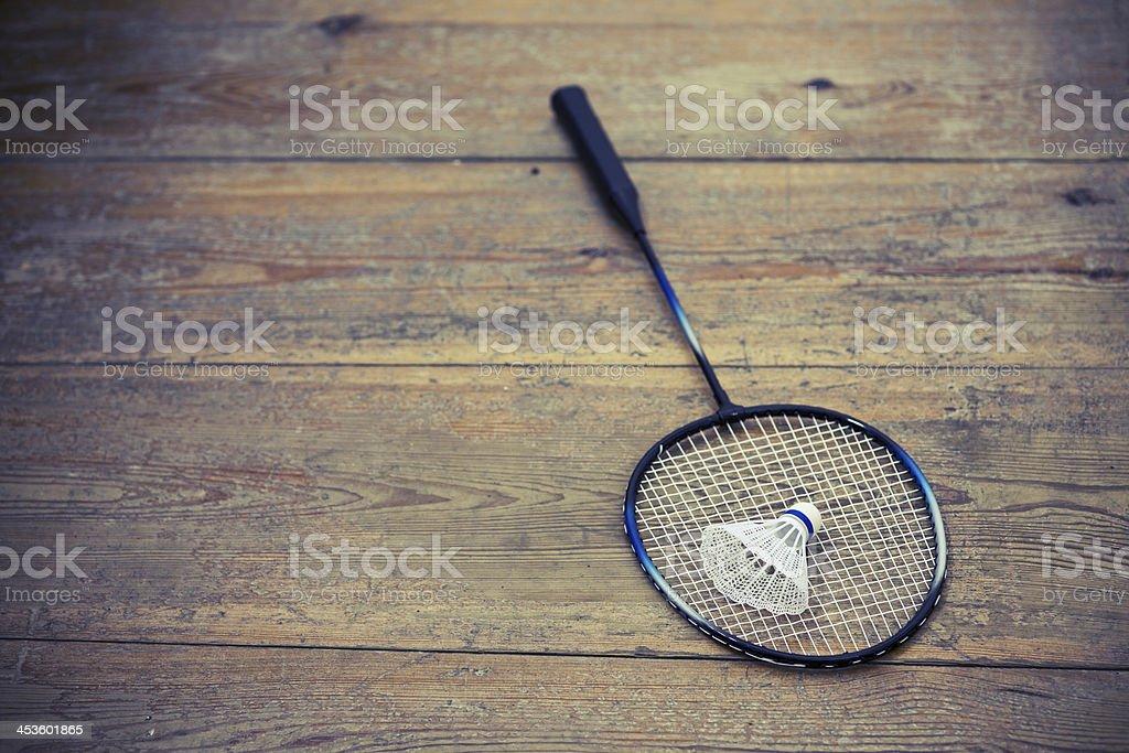 vintage badminton racquet royalty-free stock photo