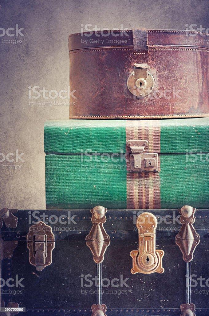 Vintage  baggage stock photo