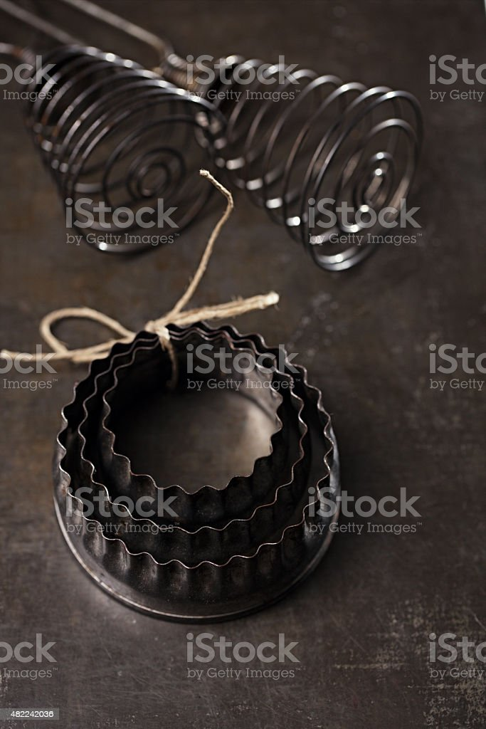 Vintage  Baking Tin cutters stock photo