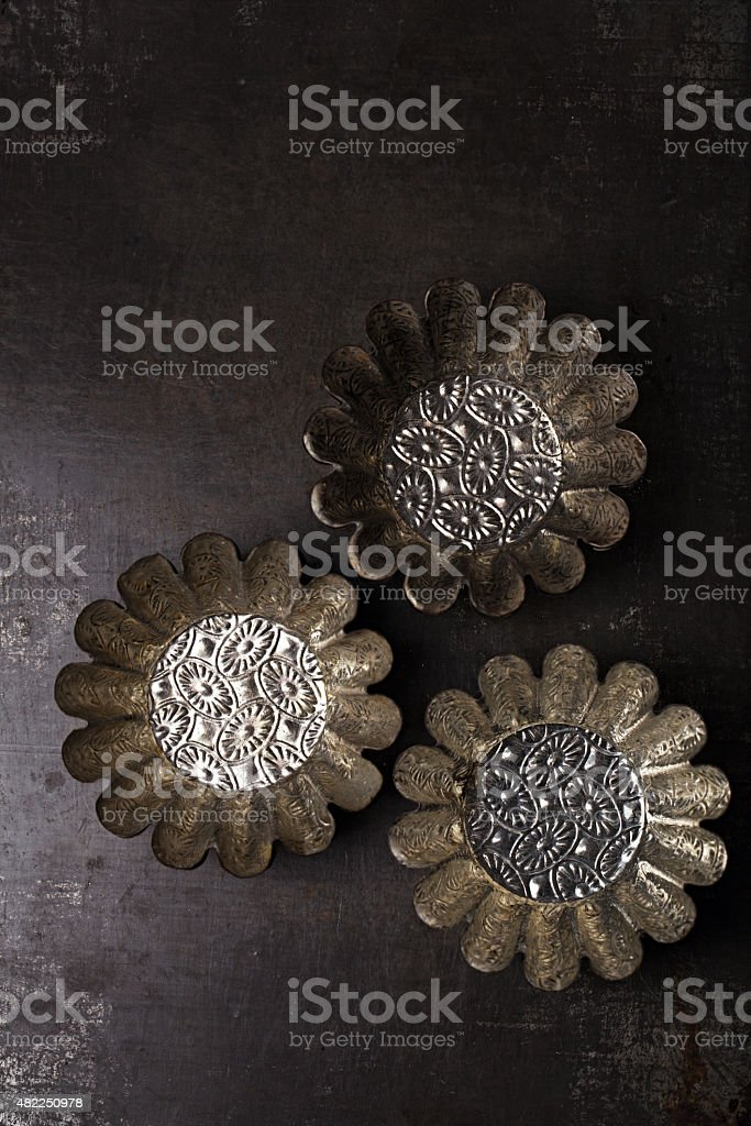 Vintage  Baking Tins and moulds stock photo