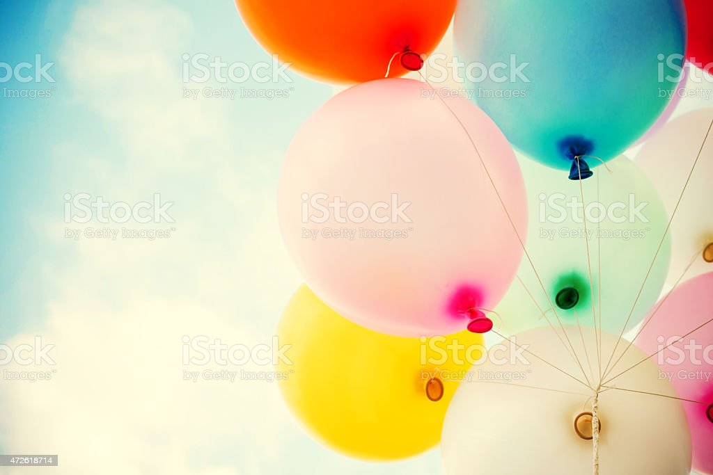 vintage balloon stock photo