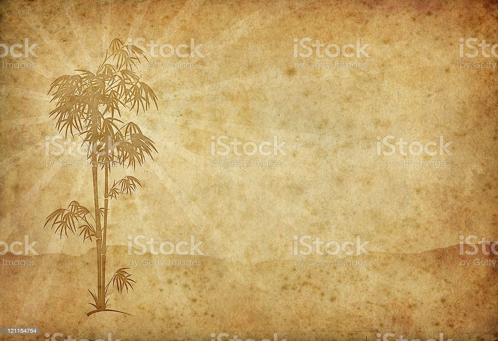 vintage bamboo royalty-free stock photo