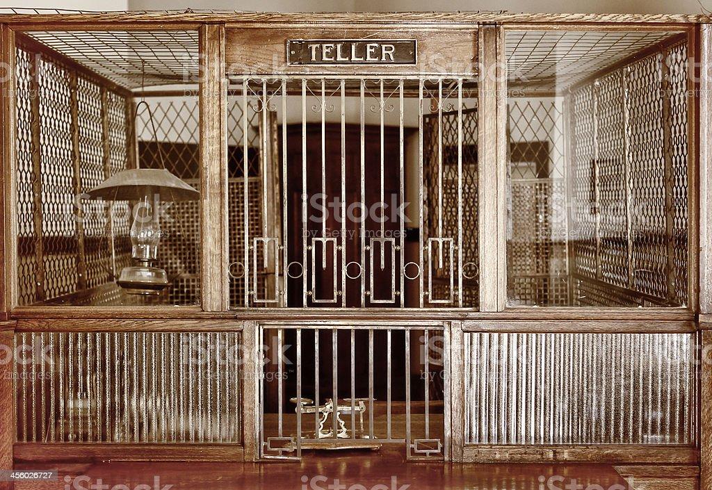 Vintage Bank Counter stock photo