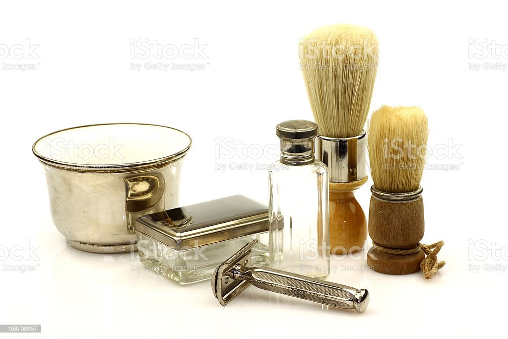 vintage  barber tools royalty-free stock photo