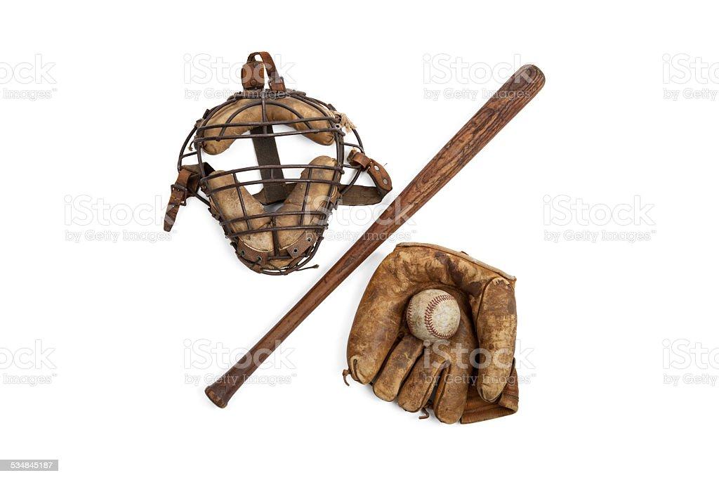 Vintage Baseball Equipment stock photo