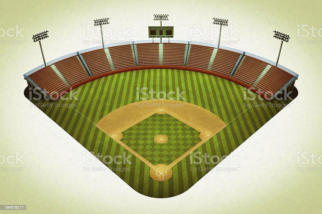 Vintage baseball field stock photo