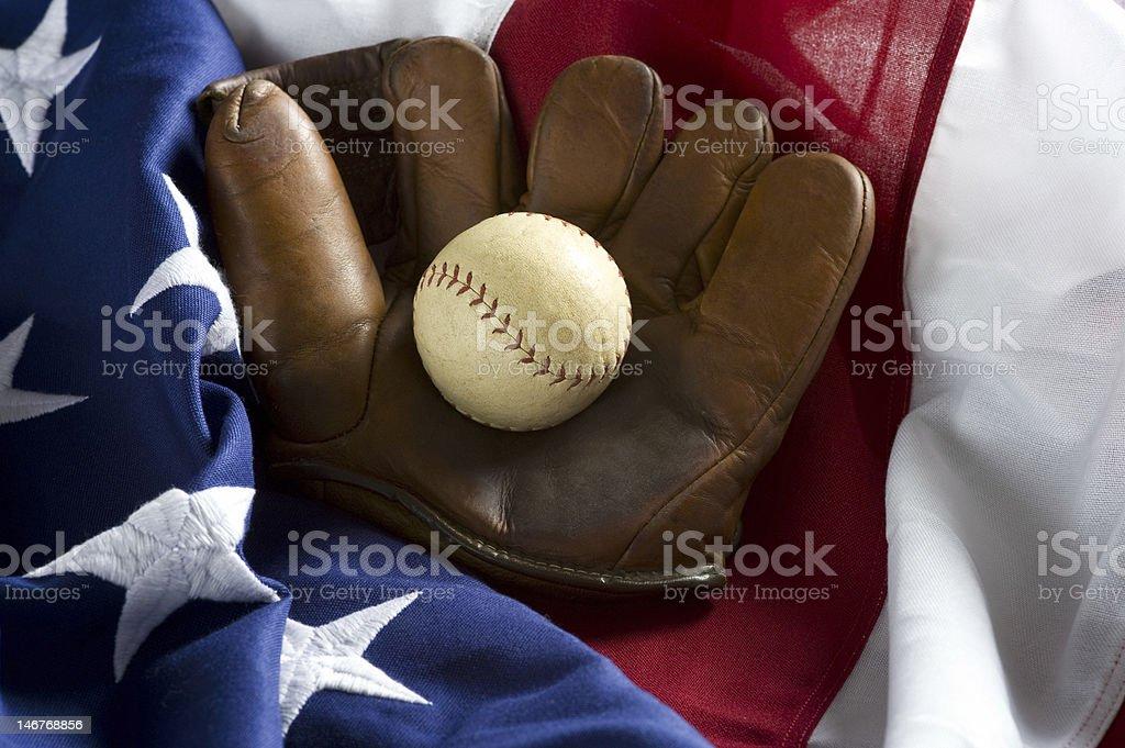Vintage Baseball Items stock photo