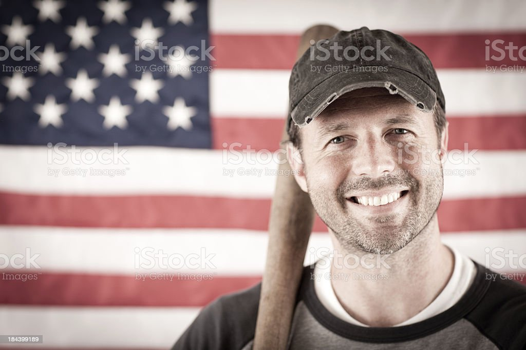 Vintage Baseball Player royalty-free stock photo