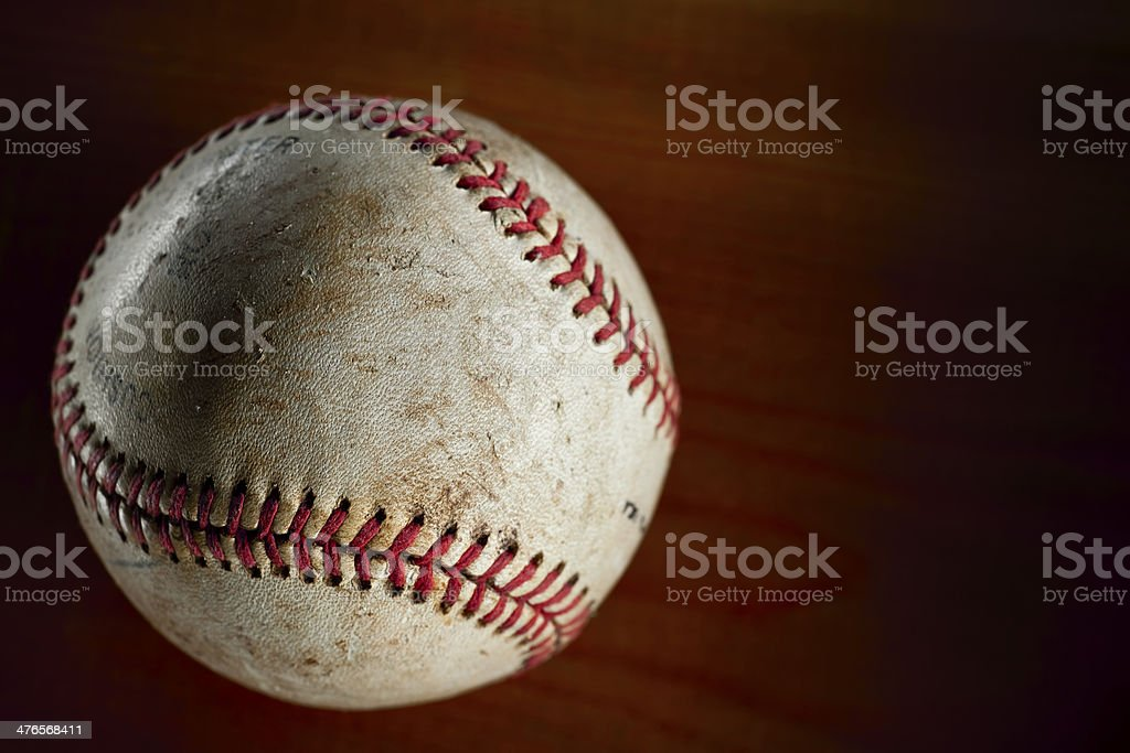 Vintage Baseball.Color Image royalty-free stock photo