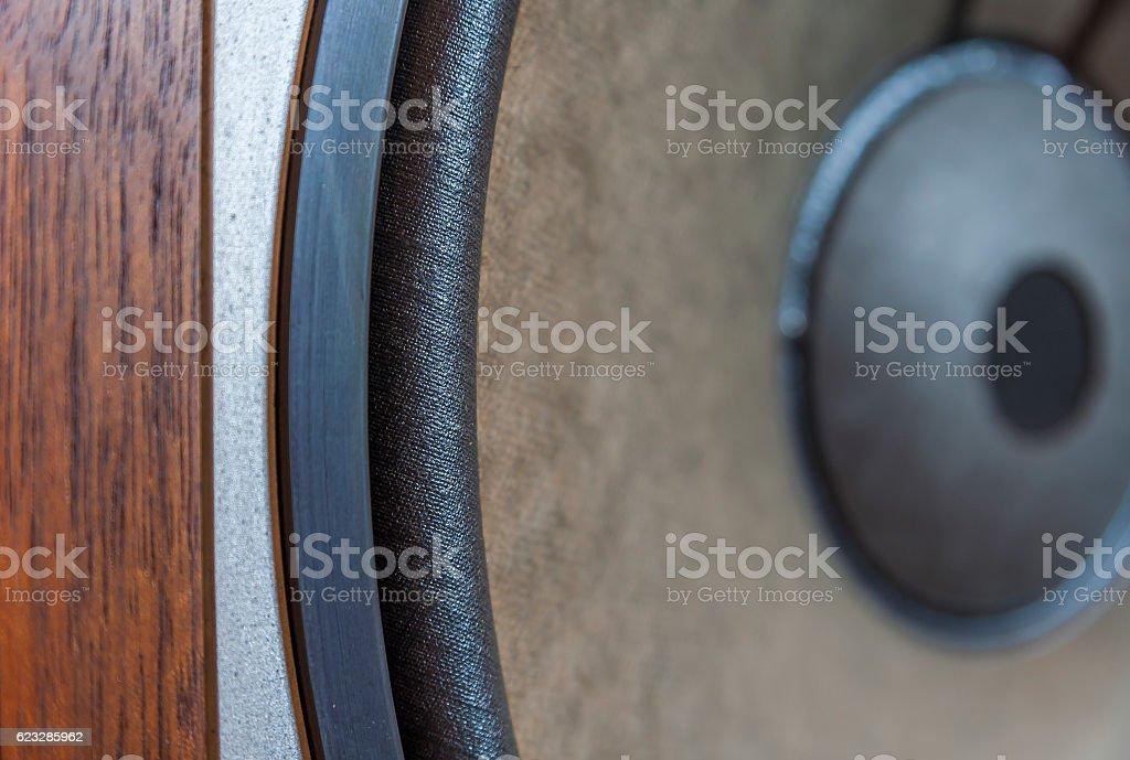 Vintage Bass Loudspeaker stock photo