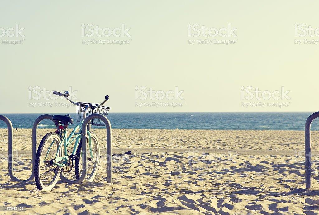 Vintage Beach Bike stock photo