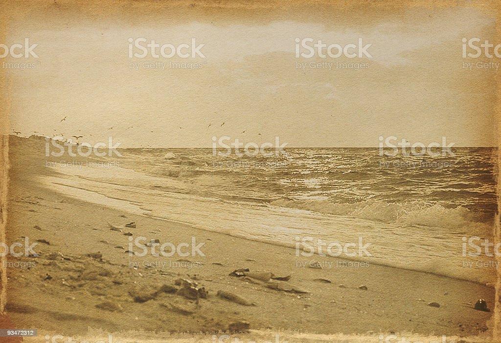 Vintage Beach Photo royalty-free stock photo