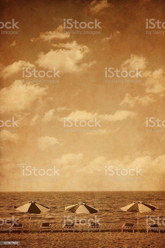 vintage beach royalty-free stock photo
