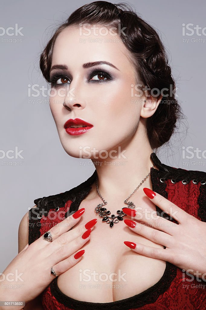 Vintage beauty stock photo