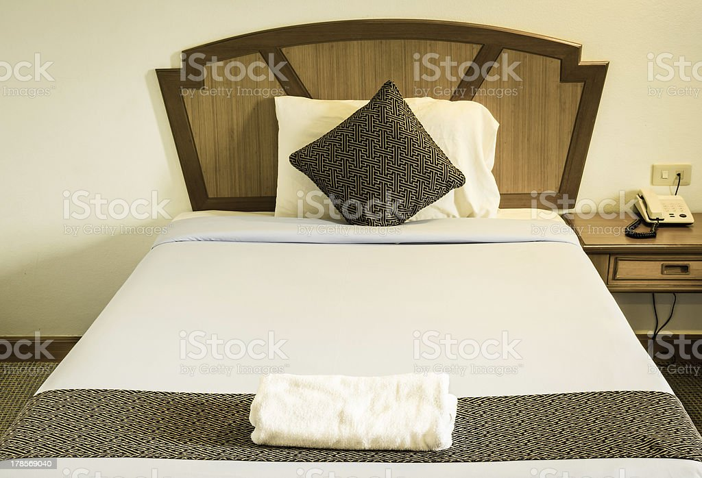Vintage Bed King Size royalty-free stock photo