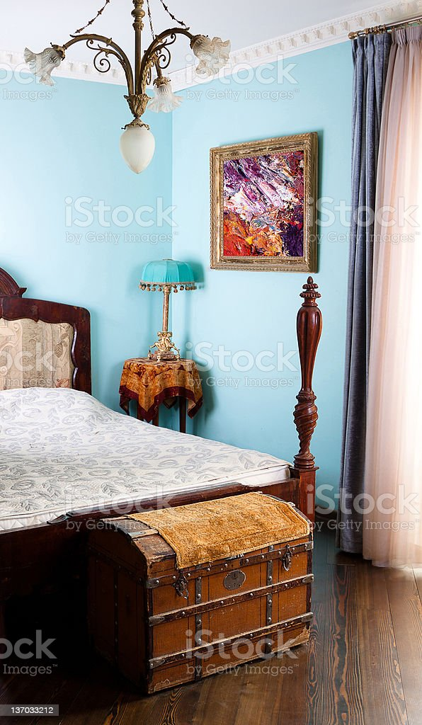 Vintage bedroom stock photo