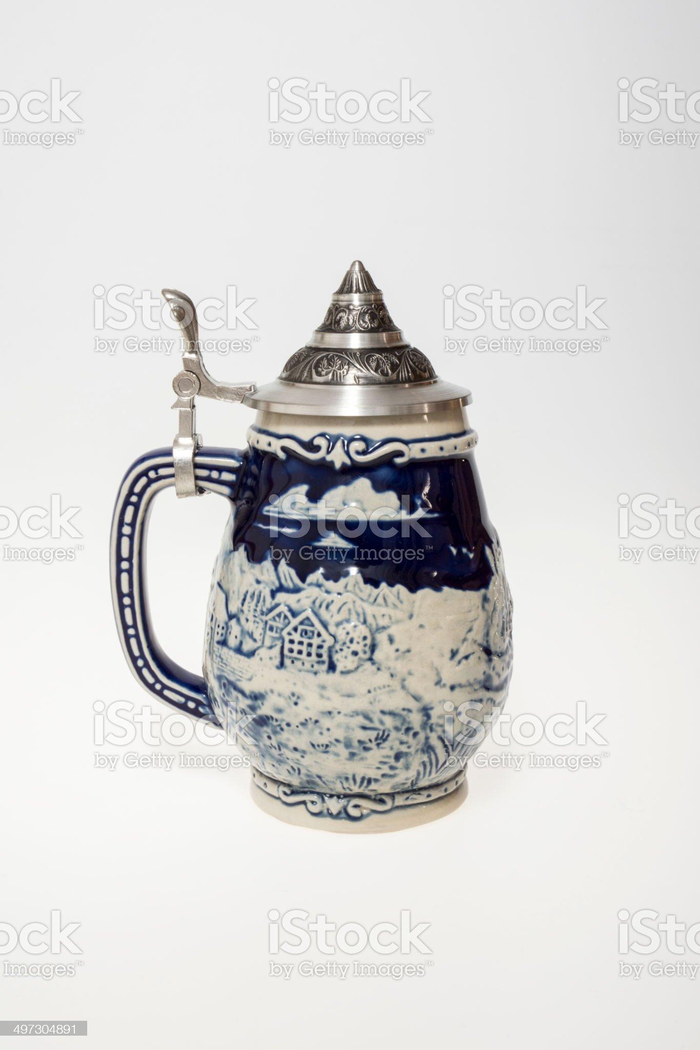 Vintage beer mug royalty-free stock photo