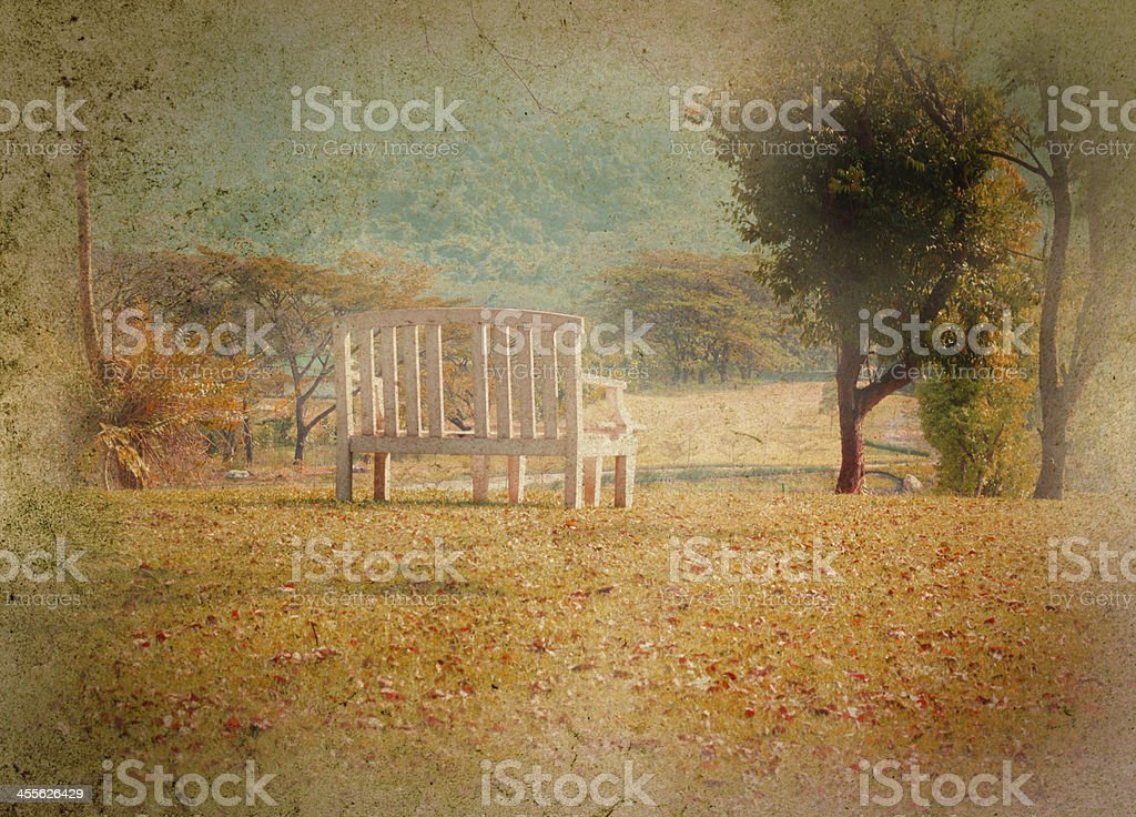 vintage bench,texture technical royalty-free stock photo