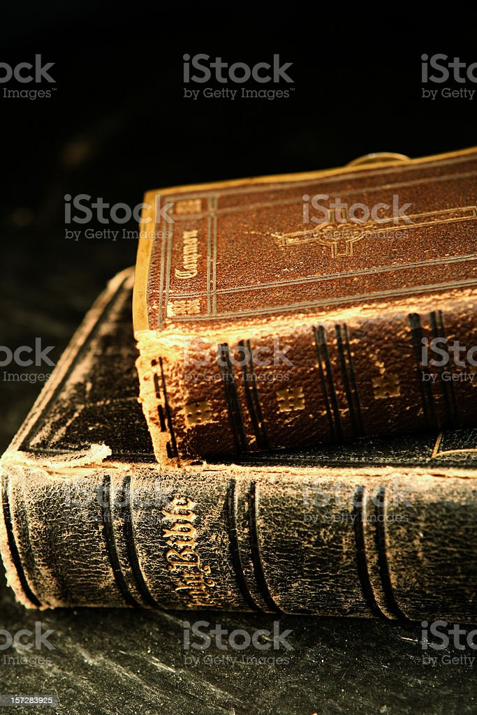 Vintage Bibles royalty-free stock photo
