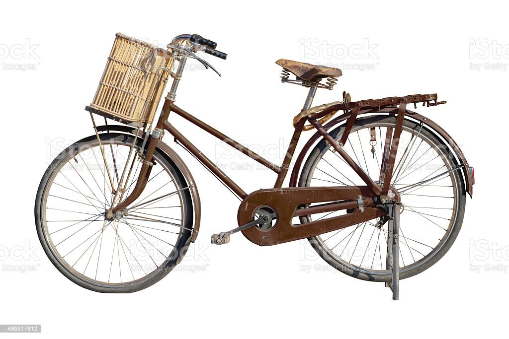vintage bicycle stock photo