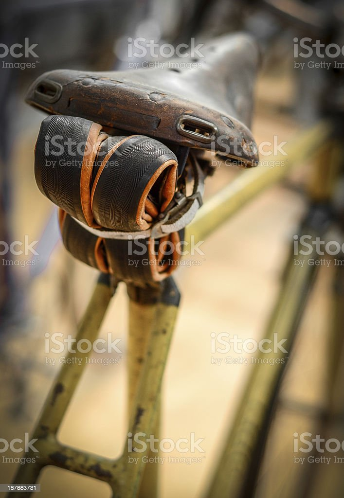 Vintage Bicycle With Tube royalty-free stock photo