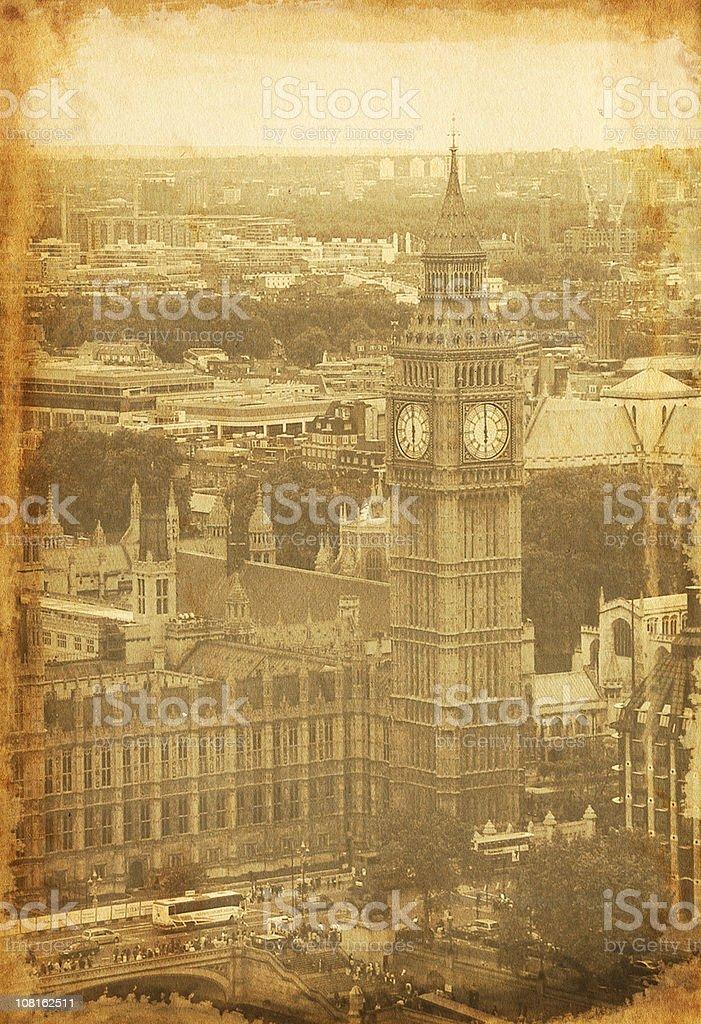 Vintage Big Ben Photo royalty-free stock photo