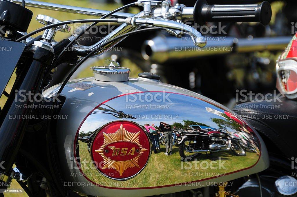 BSA vintage bike, Jersey. royalty-free stock photo