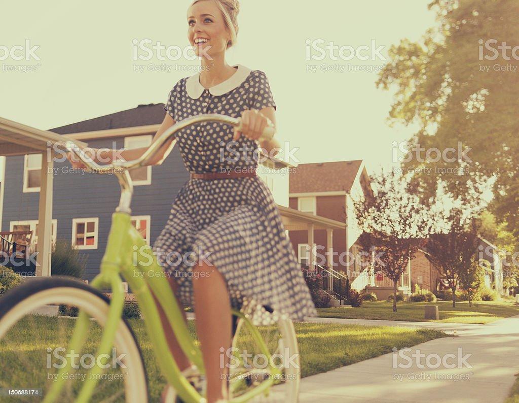 Vintage Bike Ride royalty-free stock photo