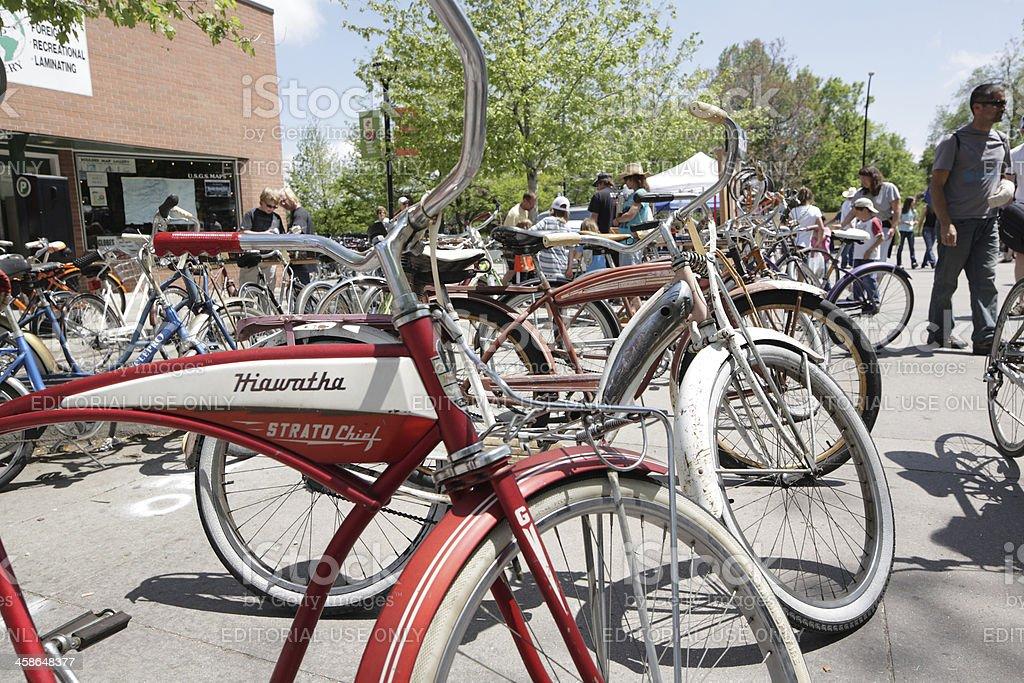 vintage bike street sale stock photo
