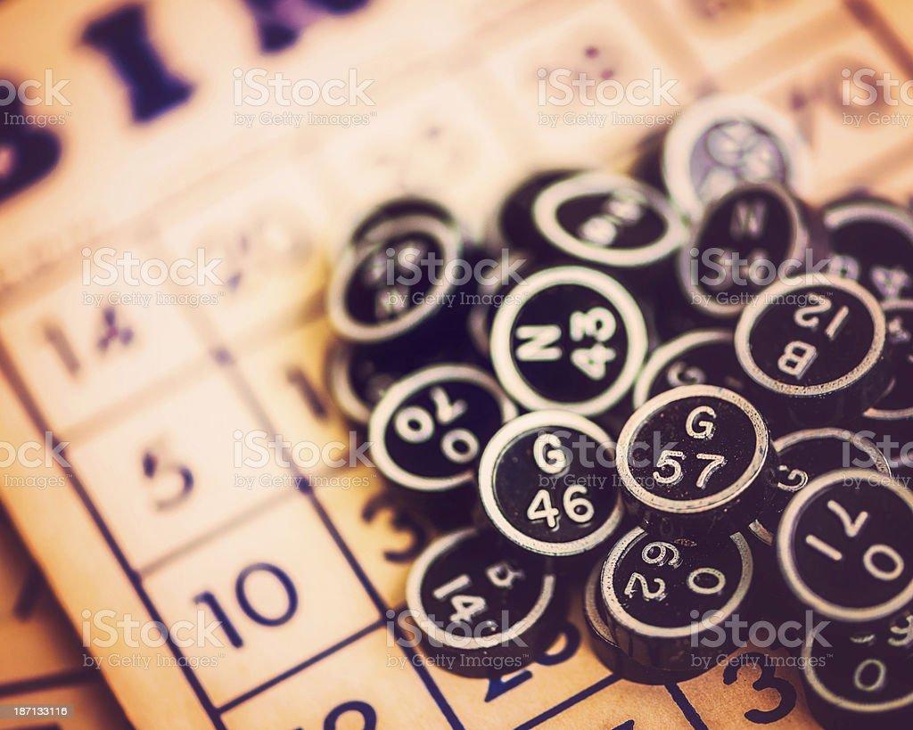 Vintage Bingo Cards stock photo