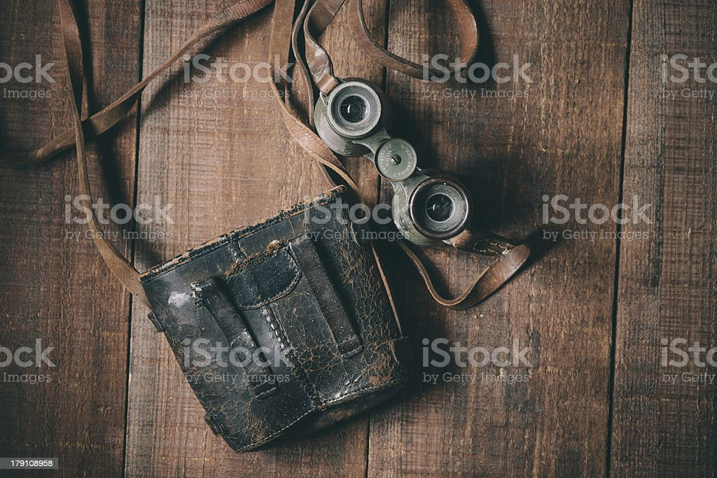 Vintage Binoculars 02 stock photo
