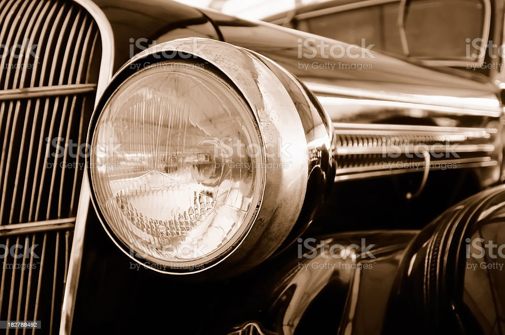 Vintage Black Car in Close-up royalty-free stock photo