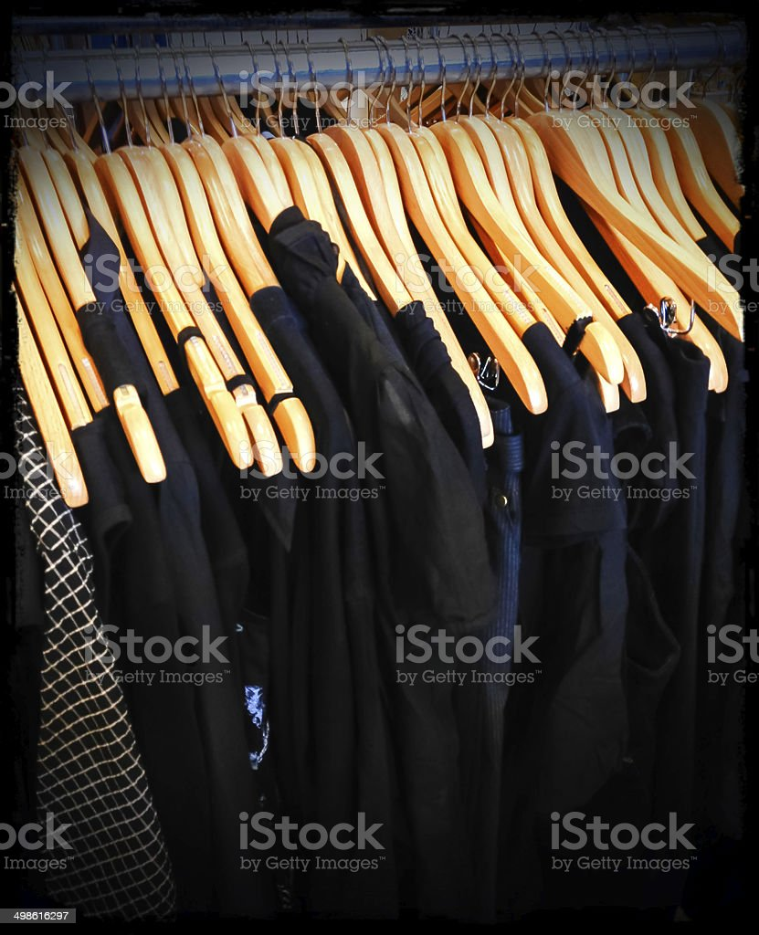 Vintage black clothing stock photo