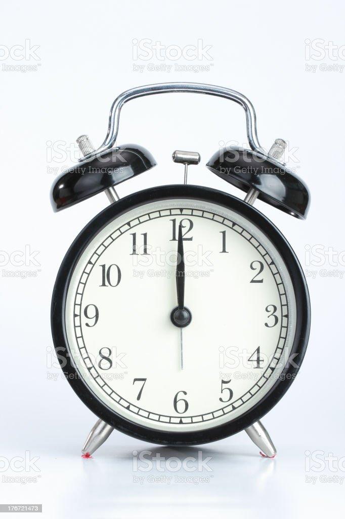 Vintage black  color alarm clock royalty-free stock photo