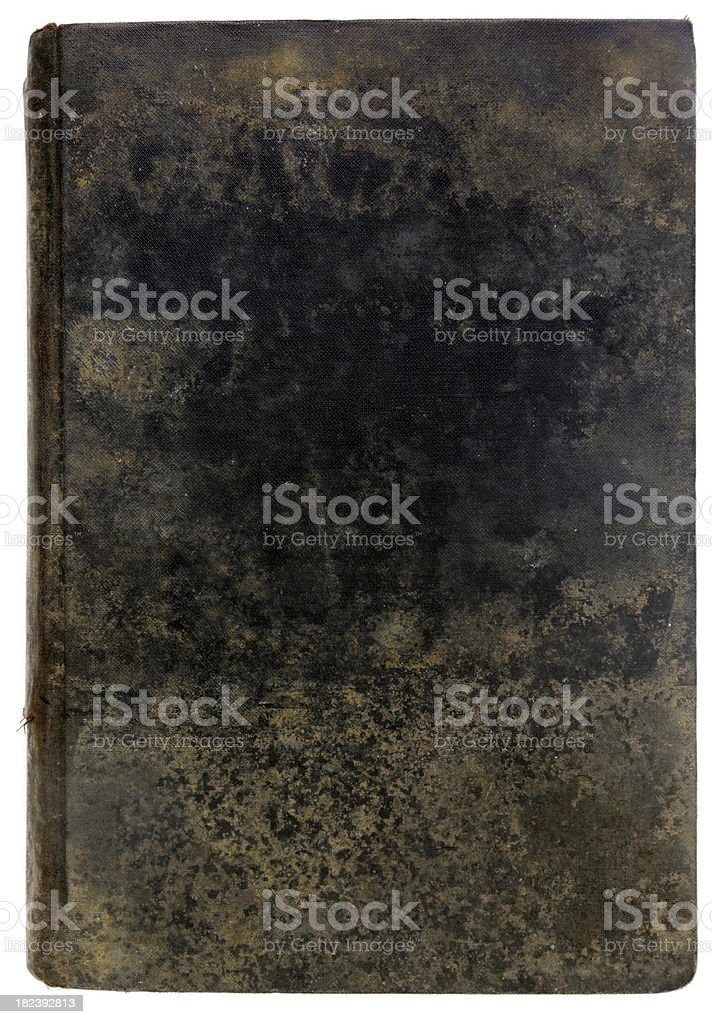 Vintage Black Grunge Moldy Rusty Book Cover royalty-free stock photo