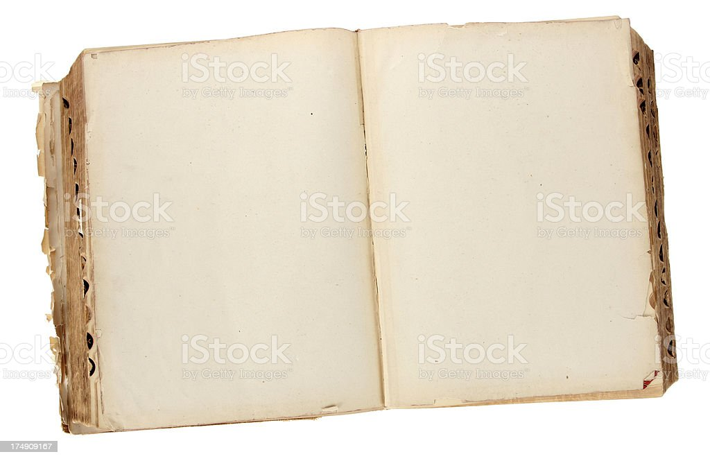 Vintage Blank Book royalty-free stock photo