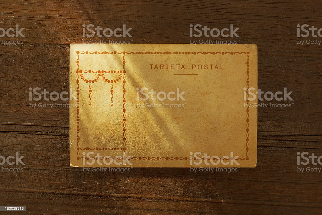 Vintage blank postcard royalty-free stock photo
