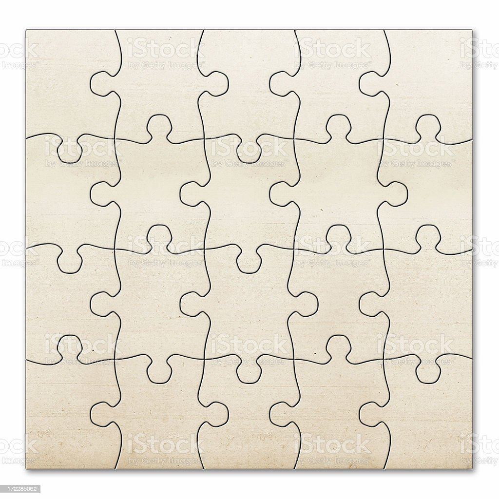 vintage blank puzzle royalty-free stock photo