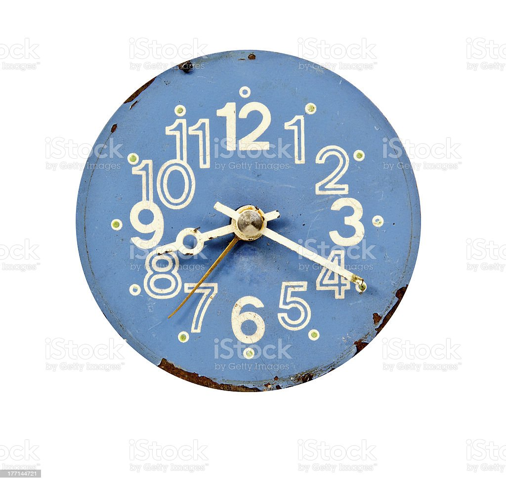 vintage blue and grunge clock dial royalty-free stock photo