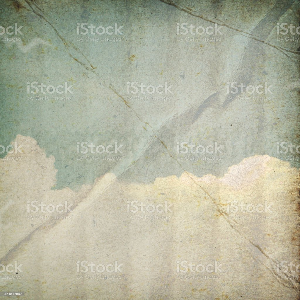 Vintage blue sky and white cloud. stock photo