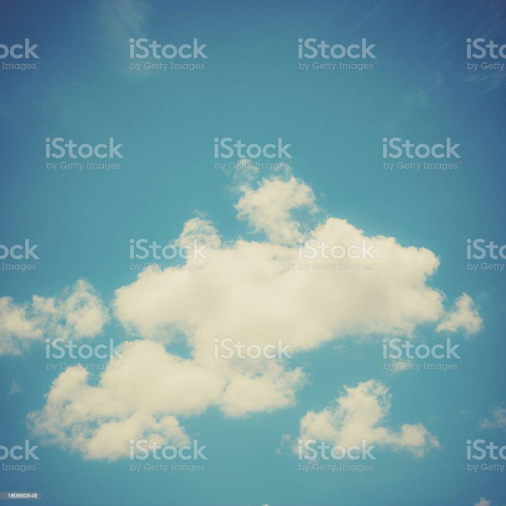 Vintage Blue Sky royalty-free stock photo