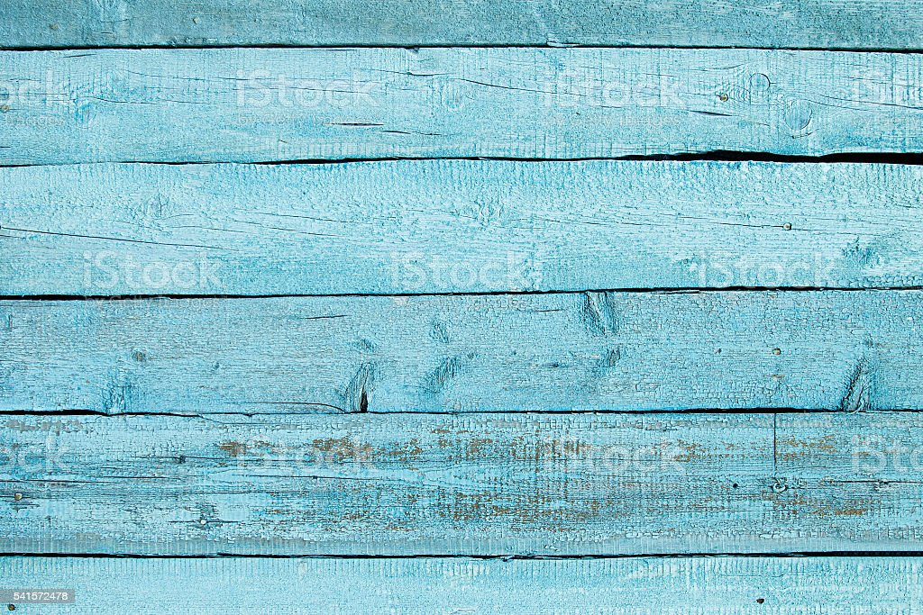 Vintage blue wooden background. Old weathered aquamarine board. Wood backgriund. stock photo