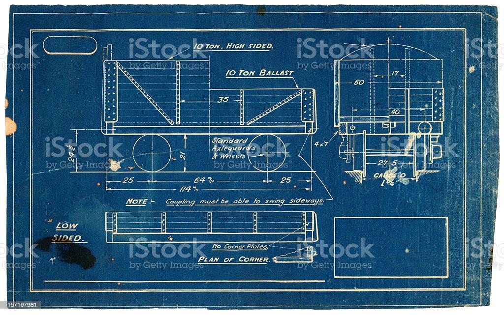vintage blueprint royalty-free stock photo