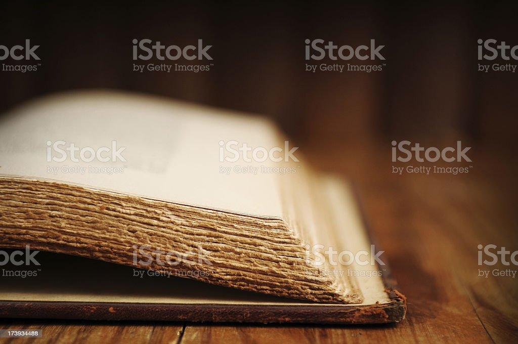 Vintage Book Closeup stock photo