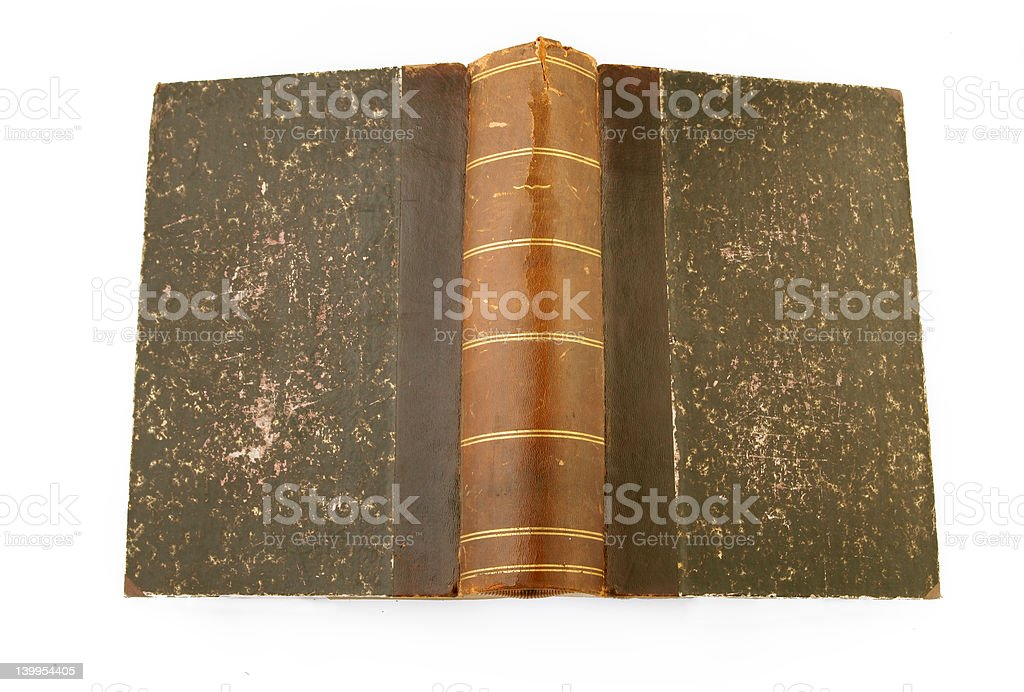 Vintage book cover stock photo