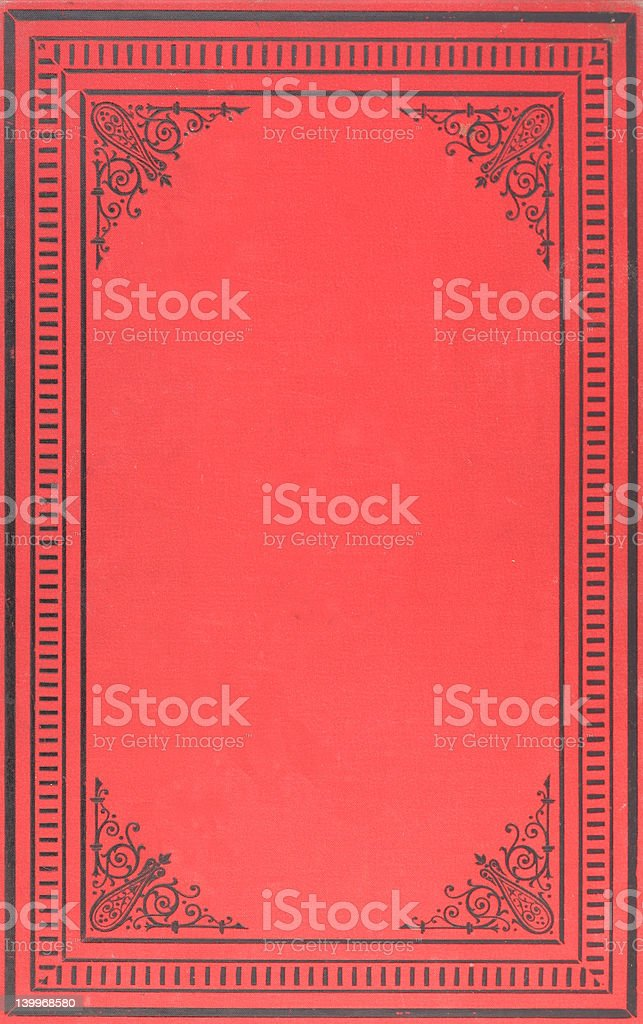 Vintage book cover royalty-free stock photo