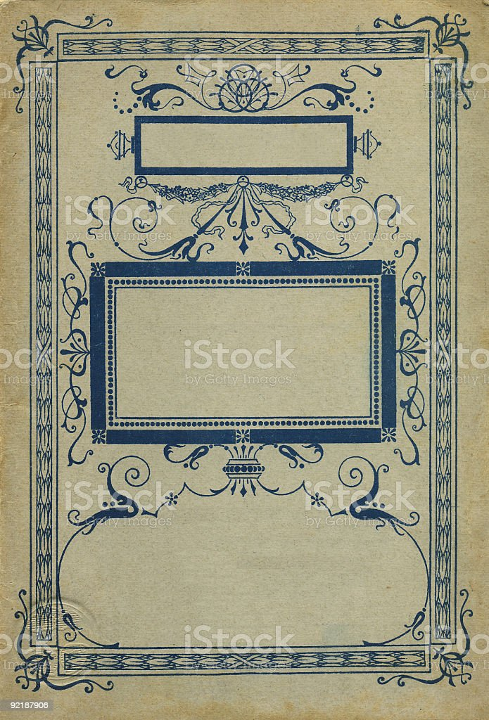Vintage Book Cover With A Floral Frame royalty-free stock photo