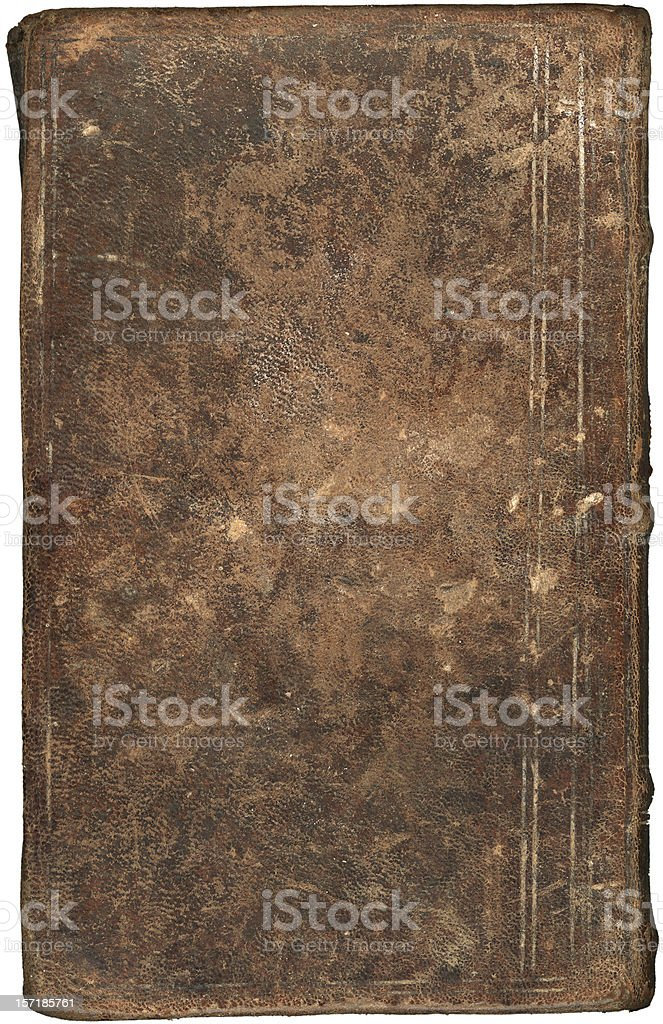 Vintage book cover (leather) XXL stock photo