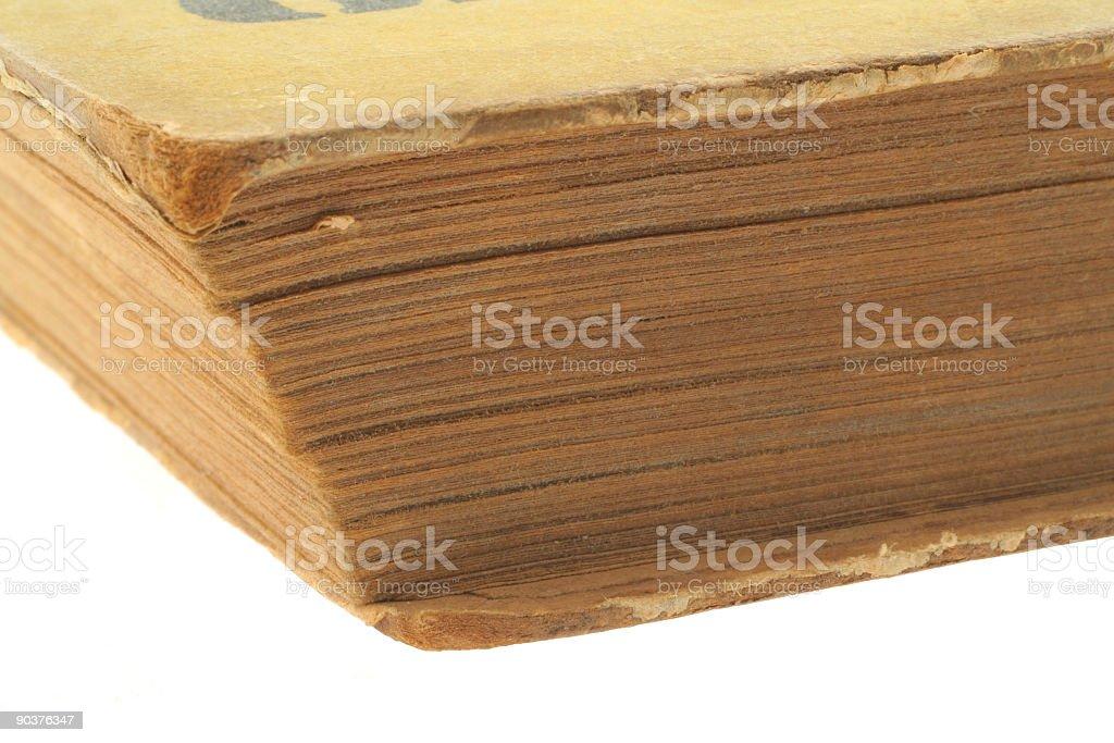 vintage book - real macro royalty-free stock photo